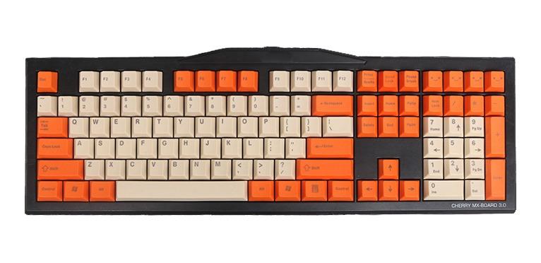 108 Teclas Pbt Superior Impreso Keycaps Naranja Keycap Set P