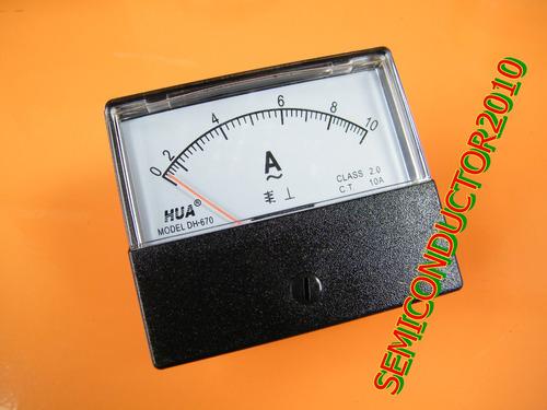 10a analogo amperimetro panel amp corriente meter ac 0-10a