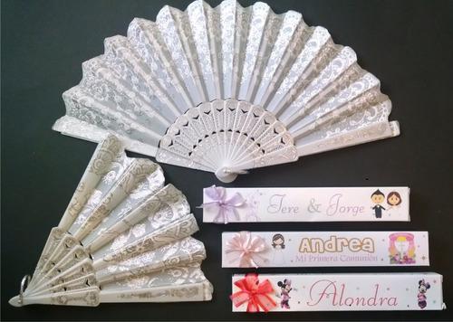 10abanicos elegantes cajita personalizados recuerdos boda xv