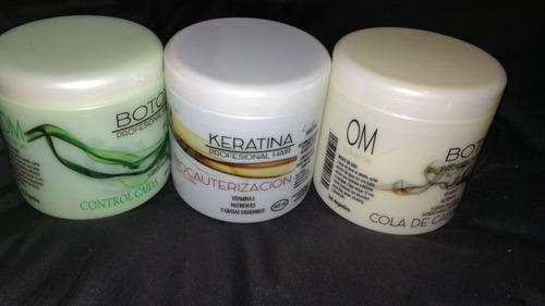 10botox capilar om x mayor 500ml, 10 un o shampoo env. grat