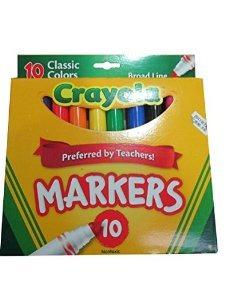 10ct crayola classic broad line marcadores