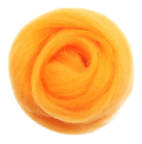 10g lã topo roving felting lã fiação felting fibra laranja
