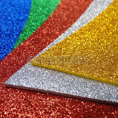 10goma eva glitter gomaeva brillo gliter brillito grande