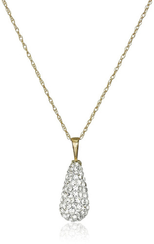 10k gold swarovski elements pear shape rd pendant necklace 10k gold swarovski elements pear shape rd pendant necklace aloadofball Image collections