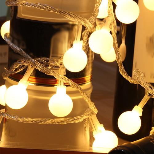 10m 100 led bola de mundo de hadas cadena de luz