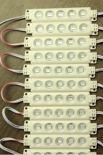 10modulos 5leds 5630  12v ultrabrillantes ip65 spuer potente