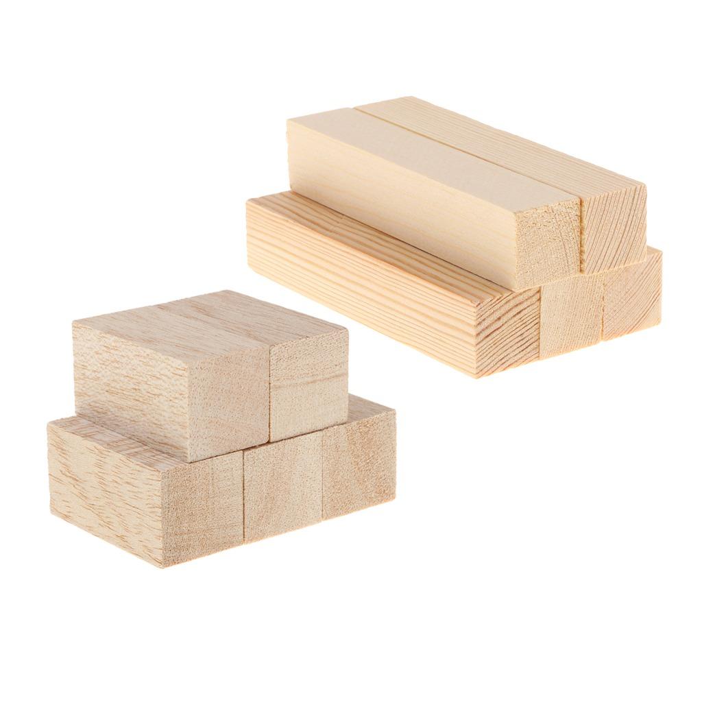 10packs Unfinished Balsa Wood Block Stick Rod Diy Modeling W
