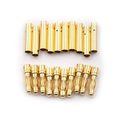 10pair 4,0 mm 4mm rc batería dorado bala conector banana plu