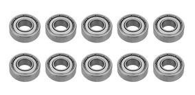 Accesorios para impresoras 3d con rodamientos de brida 10PCS//lote Rodamientos de bolas F624ZZ Rodamiento de bolas con brida blindado de metal Ranura profunda en miniatura