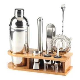 10pcs Aço Inoxidável Bar Cocktail Shaker Set Barware Kit W