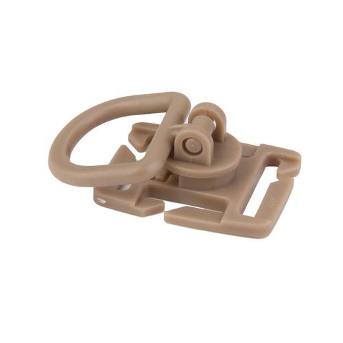 10pcs clips mosquetones hebilla molle d-ring giratoria 360 g
