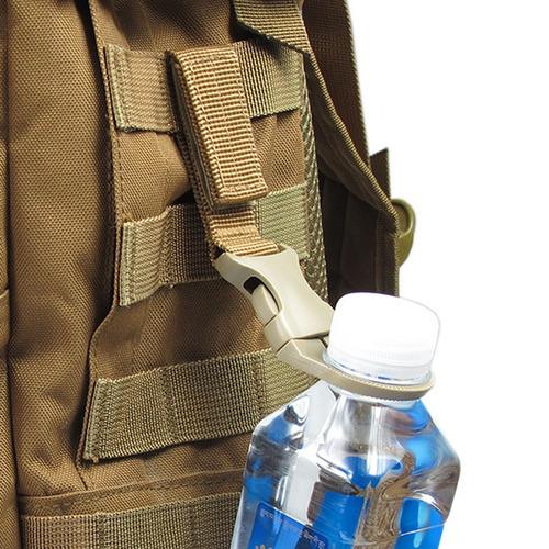 10pcs mochila garrafa água titular gancho molle pendurar cin