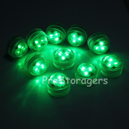 10pcs rgb sumergible led luces control remoto control