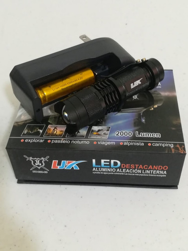 10pz lampara tactica mini  5 modos camu recargable ledq5