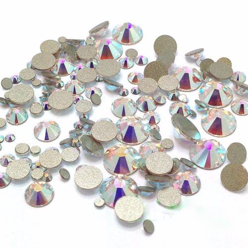 10pz piedra cristal swarovski ss34 tornasol ab orig uña
