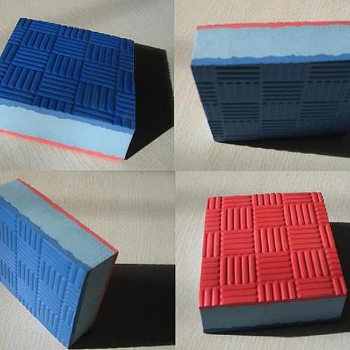 10pz tatami fire sports piso bicolor económico rojo-azul
