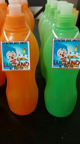 10souvenirs infantiles originales botellas  personalizada