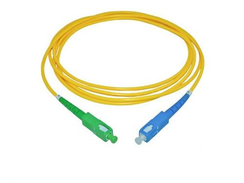10un cordão óptica sc/apc x sc/upc sm 5 metros fibra 2.0mm