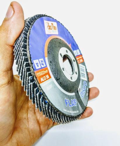 (10un) disco tipo flap 115 x 22mm disflex - escolha o grão