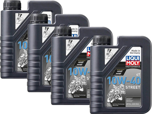 10w40 liqui moly street pack 4l aceite para moto