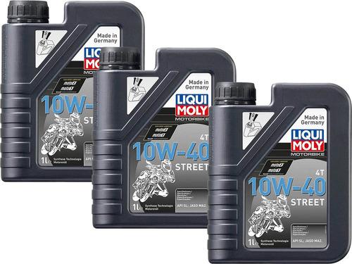 10w40 liqui moly street pack de 3l aceite para moto 4t