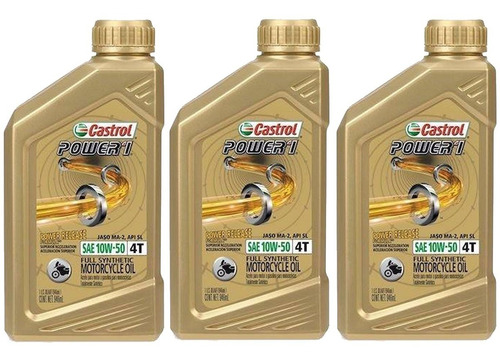 10w50 castrol power 1 full sint pack 3l aceite de moto