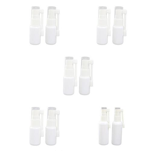 10x 10-50ml garganta nasal de plástico blanco vacía pulve