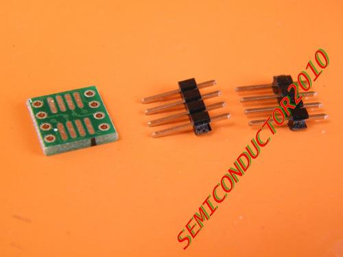10x adaptador  soic-8 sop8 a dip-8 pcb smd adaptador  dip