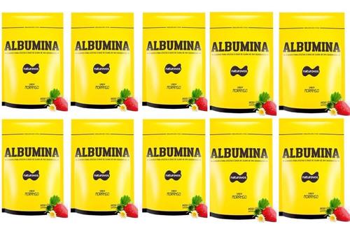 10x albumina refil 500g naturovos (baunilh/banana/choco/mora