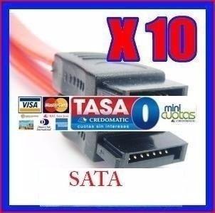 10x cables serial sata rojos pc disco duro 3g s5 galaxy gear