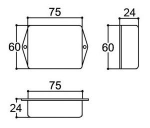 10x caixa plastica patola pb075/2 preta  a.24 x l.60 x cp.75
