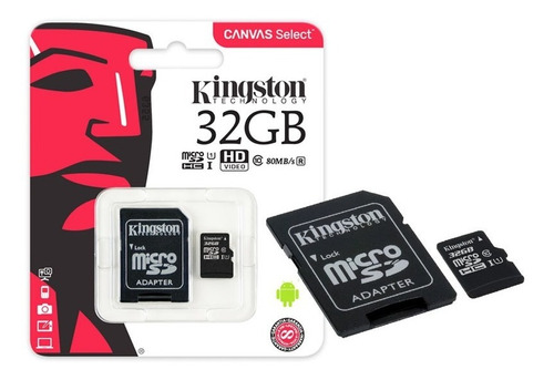 10x cartão micro sd 32gb classe10 original kingston 80mb/s