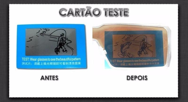 32e9183444d62 10x Cartão Teste Para Lentes De Óculos Polarizado - R  14,89 em ...