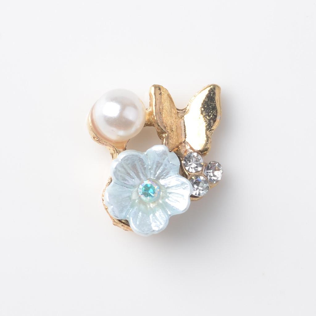 10x Cristal Flor Diamantes De Imitación Botones Flatback Adornos Boda