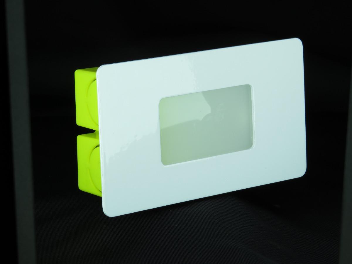 10x lumin rias balizador led embutir parede escada caixa for Luminarias de exterior led