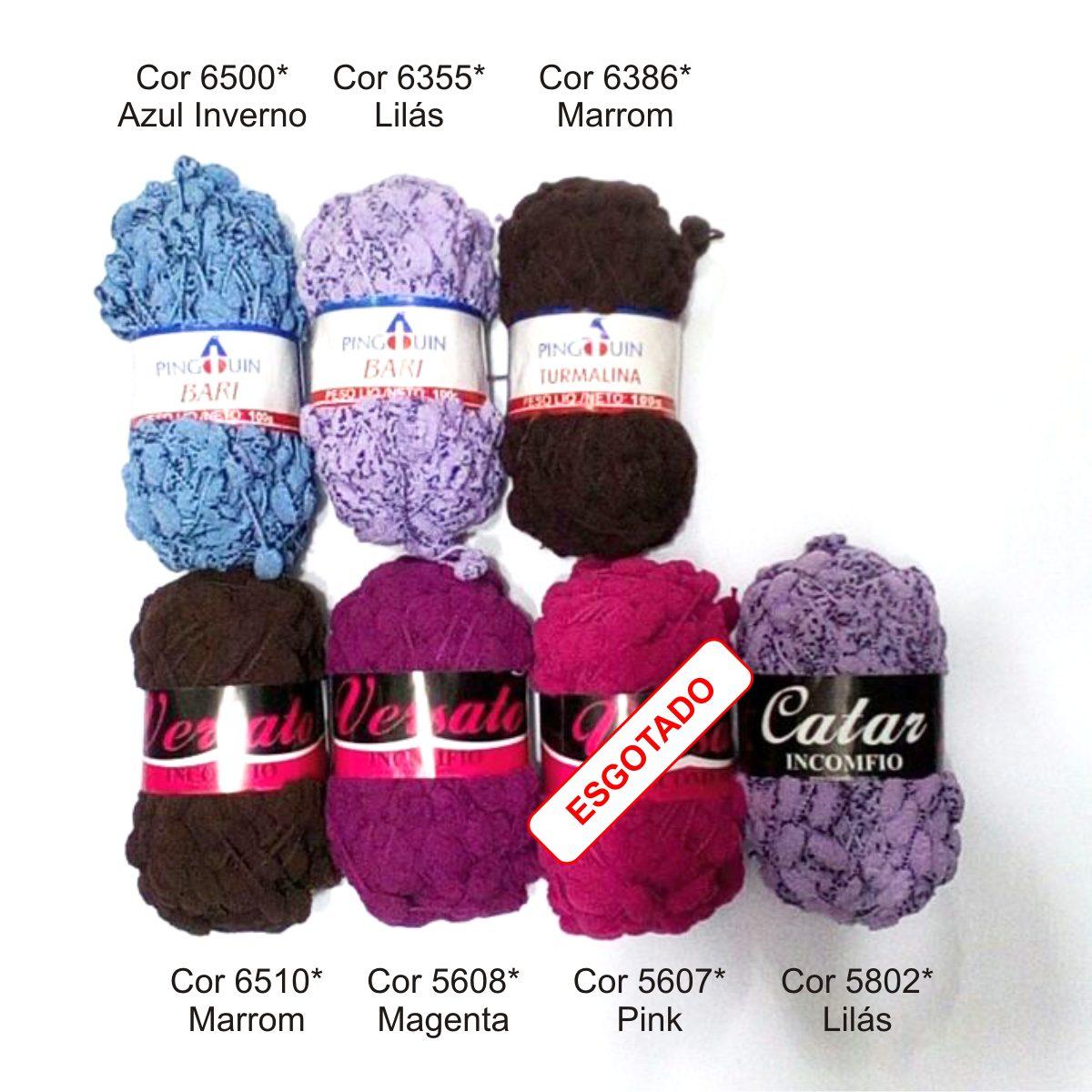 10x novelos lã pompom diversas marcas - várias cores. Carregando zoom. 9ebe9c77fe4