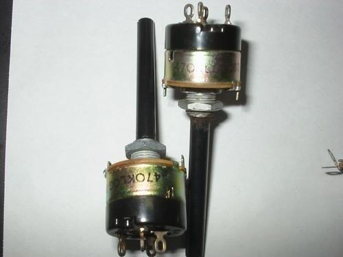 10x potenciômetro 470k c/chave simples radio, amplificador