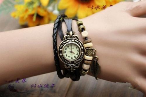 10x relógio pulseira couro pu pingente lote atacado revenda