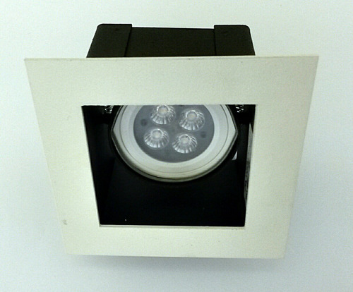 10x spot embutir cuadrado techo luz led negro/blanco movilux