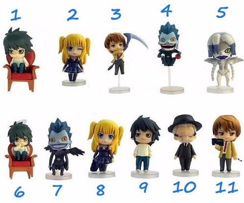 11 action figures death note -  kira l misa ryuuku