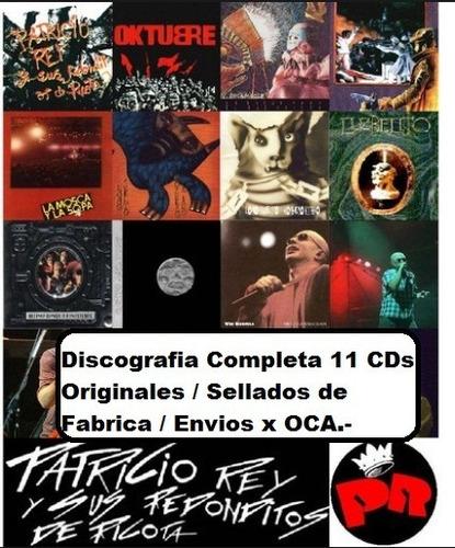 11 cds redondos. discografia completa. nuevos y originales.-