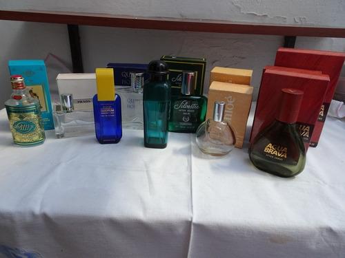 11 frascos de perfumes importados vacios