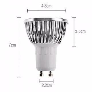 11 lampada led dicroica bivolt branco frio spot gu10 5w