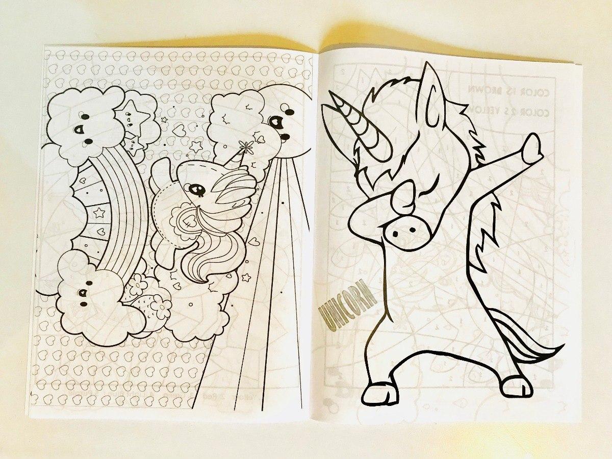 11 Sets Para Colorear Unicornio Papeleria Kawaii Fiesta