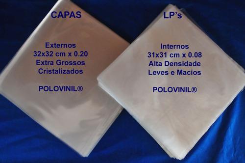 110+110 plastico externo interno capa grosso 0.20 lp vinil