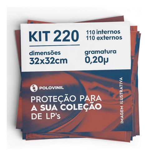 110+110 plastico externo lp vinil grosso 0.20 + interno kit