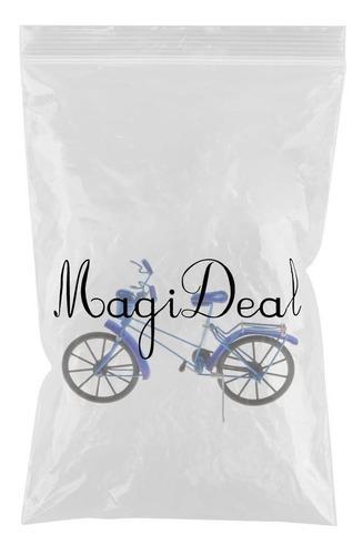 1:10 modelo de bicicleta con canasta de aluminio realista