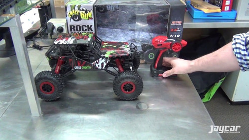 1:10 rock crawler 4x4 coche rc rtr completo led frontal