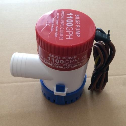 1100gph 12v 2.5a bote sumergible bomba de sentina eléctrica