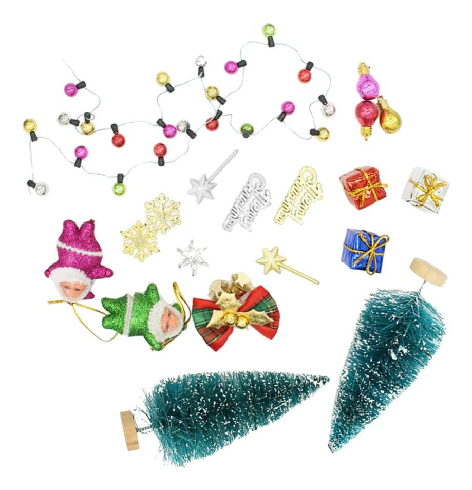 Casa De Muñecas 12 Tarjetas de Navidad Tradicional En Miniatura 1:12 Accesorio de Decoración